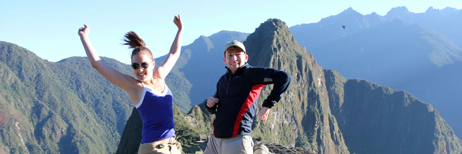 Best Machu Picchu Tours Peru Travel Packages, Jumping at Machu Picchu