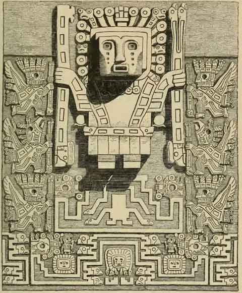 Wiracocha, the main god of the Incas