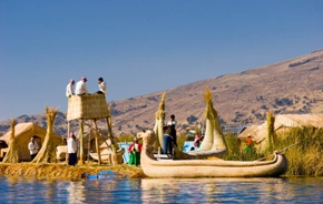 Reed boat tours and travel on Lake Titicaca Packages