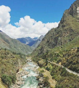 Andean Rivers landscapes in the Inca Trail