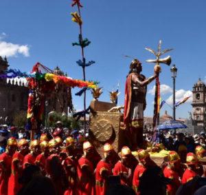 Inti Raymi in Cusco, celebrated in the Maiin Square