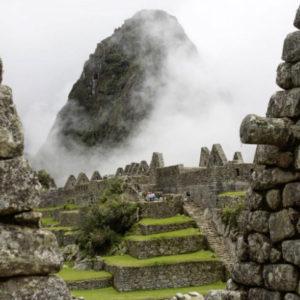 Machu Picchu ruins form inside landscape