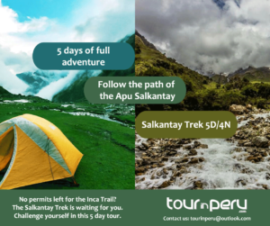 See the 4-day Inca Trail Availability in real time if not hike the Salkantay Trek to Machu Picchu in 5 days 4 nights
