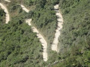 Inca trail is around 42 kilometers (26 miles)