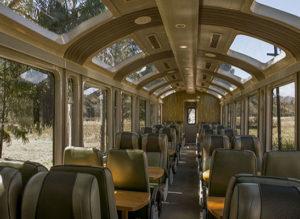 Vistadome Train: check the comfrotable seats and panoramic windows