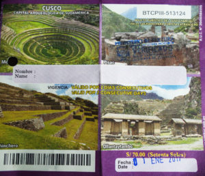 Check the Partial Touristic Ticket - Sacred Valley