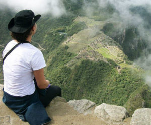 Machu Picchu Citadel View from the top of the Huayna Picchu Mountain