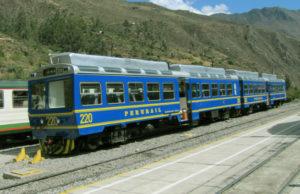 Train to Machu Picchu in Ollantaytambo Train Station